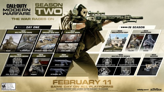 《COD16》第二赛季官方预告片 新枪新干员新地图