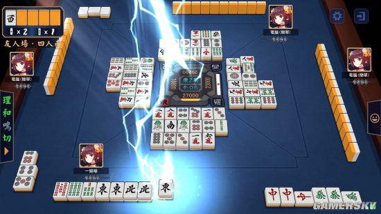 《雀魂麻将》Steam正式推出 免费二次元麻将对战