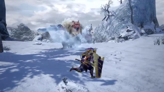 《怪物猎人:崛起》雪鬼兽演示 新登场的牙兽种怪物