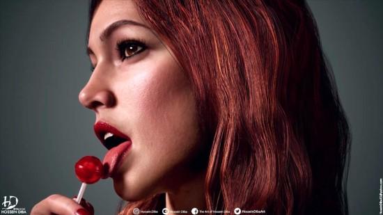 《GTA4》封面女郎高清3D重制 棒棒糖女孩极具魅惑