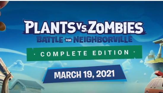 《植物大战僵尸:和睦小镇保卫战》3月19日登陆NS