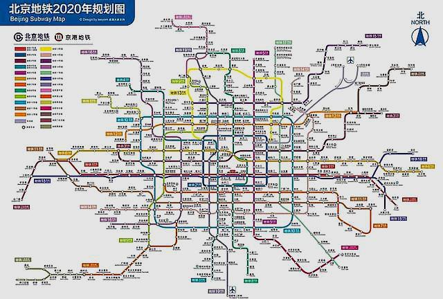 北京地铁线路图 北京地图高清版可放大 动态北京地铁线路图