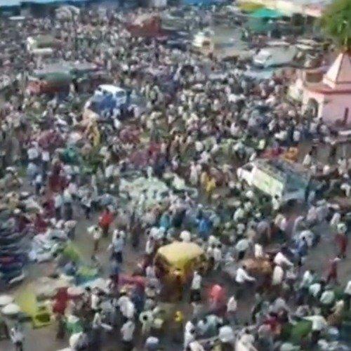 印度疫情实际真实情况 印度成千上万人挤爆菜场