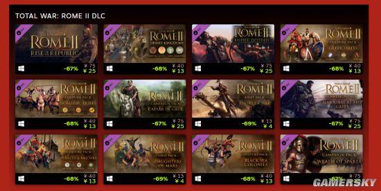 全战系列Steam特惠:三国134元 多款DLC史低