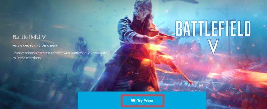 Amazon Prime《战地5》免费领开启 截至9月1日