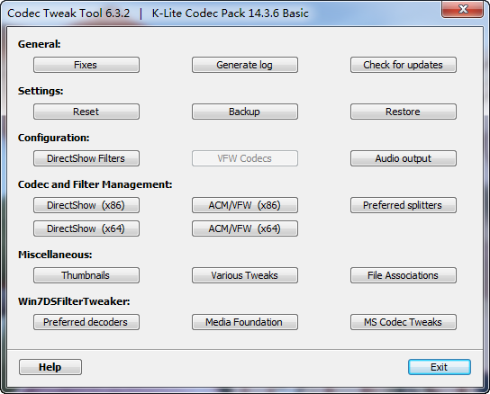 K-Lite Codec Pack Basic下载