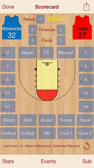HoopStats Lite Basketball Scoring软件截图0