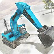 大雪挖掘机模拟器