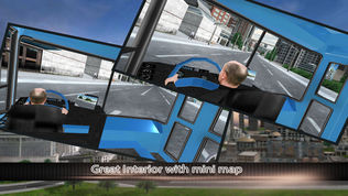 现代化的城市公交车司机3D:免费模拟游戏软件截图2