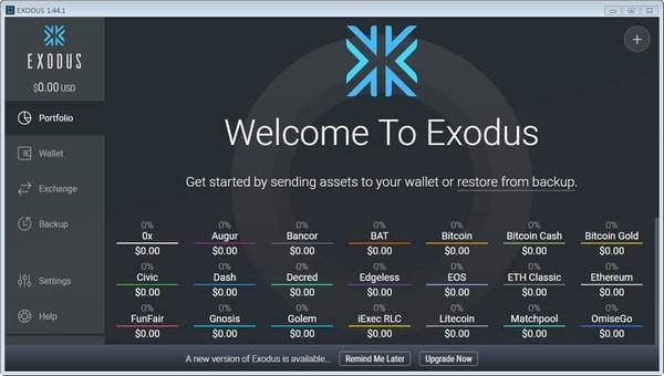 Exodus(数字货币钱包软件)下载
