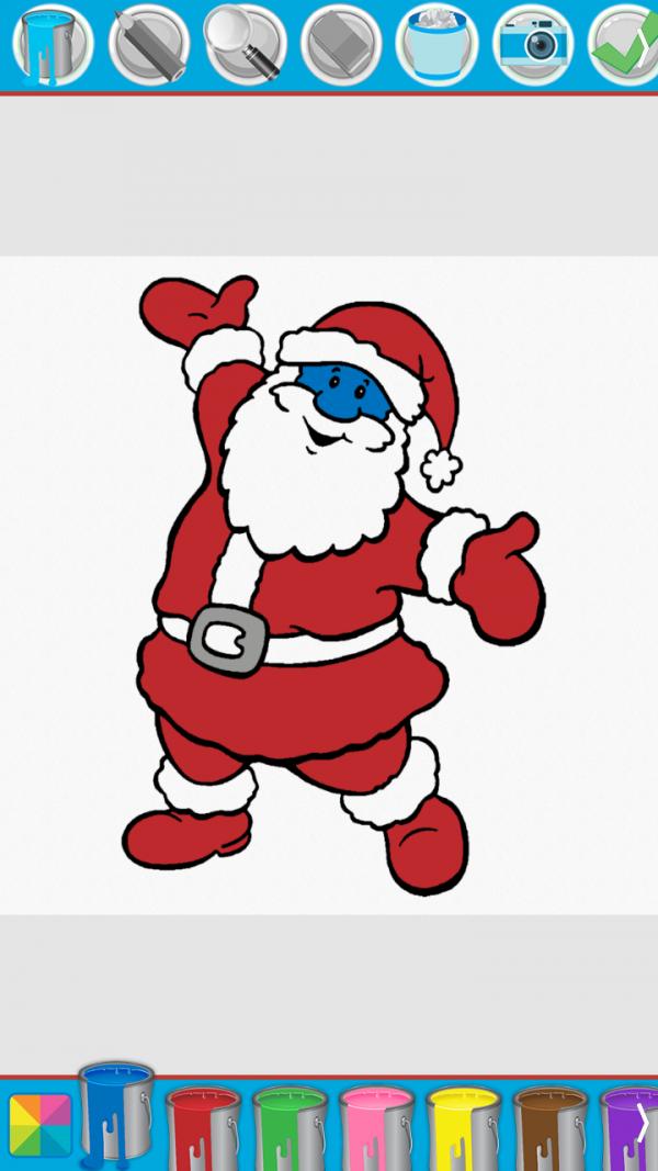 宝宝爱涂色圣诞节篇软件截图2