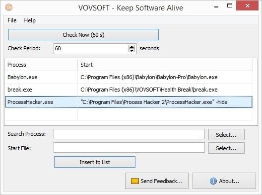 VovSoft Keep Software Alive(软件运行保护工具)下载