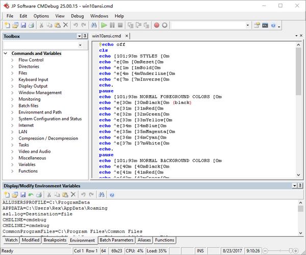 JP Software CMDebug(编程处理调试器)下载
