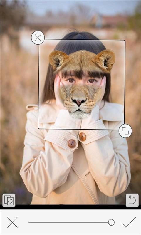 恶搞动物变脸相机软件截图0