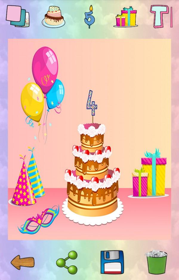 生日蛋糕贺卡制作
