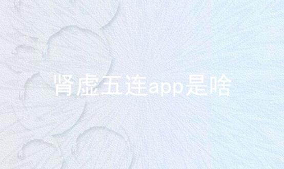 肾虚五连app是啥软件合辑