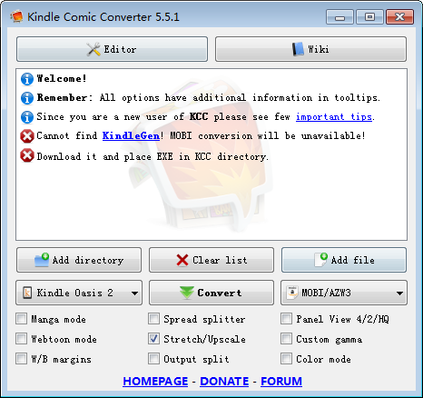 Kindle Comic Converter(漫画转换EPUB工具)