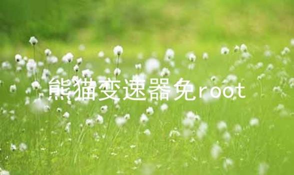 熊猫变速器免root