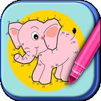 动物连线儿童画画游戏