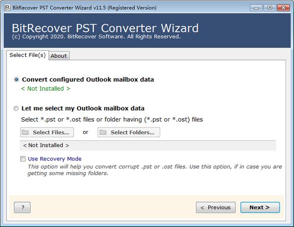 PST格式转换器(BitRecover PST Converter Wizard)