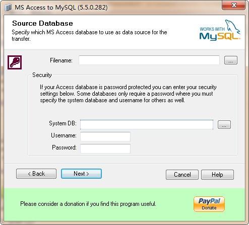 Bullzip MS Access To MySQL(Access转MySQL工具)