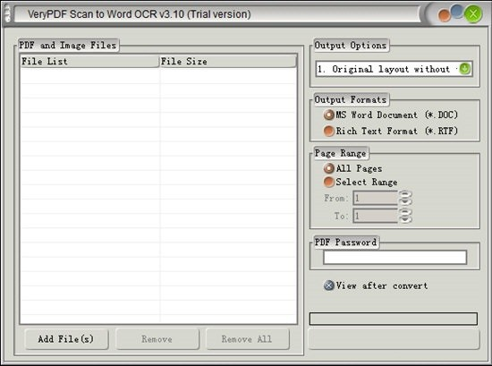 VeryPDF Scan to Word OCR Converter(OCR转换工具)