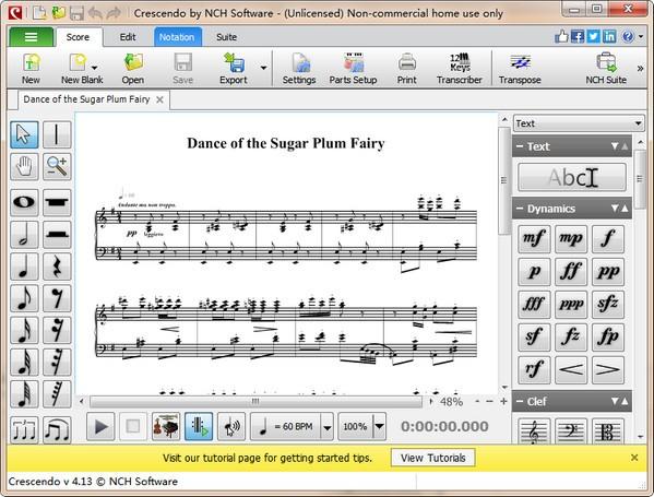 Crescendo Music Notation Editor(乐谱编辑软件)