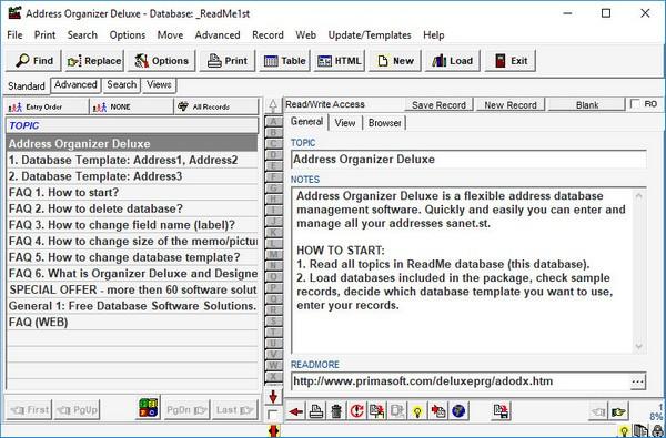 Address Organizer Deluxe