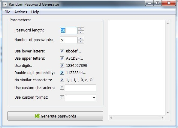 随机密码生成器(RandPass)