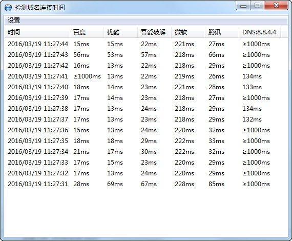 检测域名连接时间下载