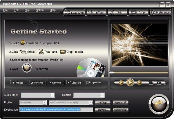 Emicsoft DVD to iPod Converter(DVD转ipod转换器)