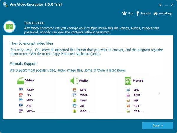 Gilisoft Any Video Encryptor(媒体加密工具)