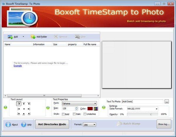 Boxoft TimeStamp to Photo(时间戳软件)