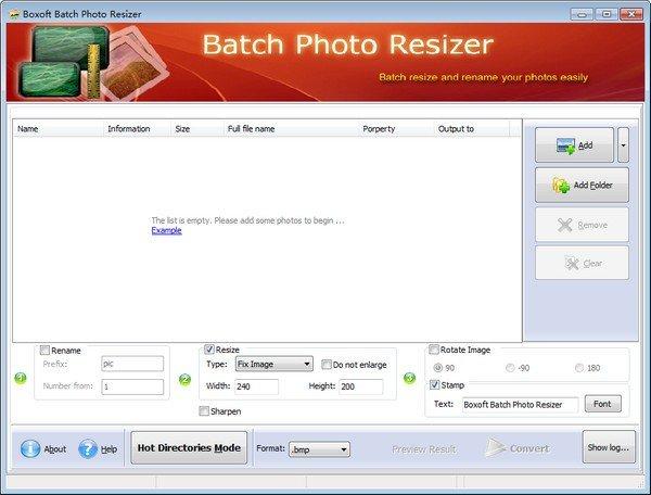 Boxoft Batch Photo Resizer(图像处理软件)