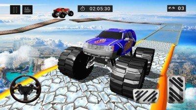 4X4怪物卡车爬山软件截图3