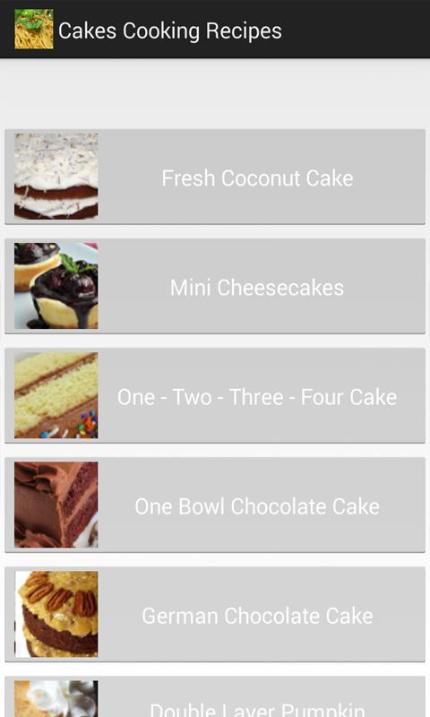 蛋糕烹饪食谱软件截图0