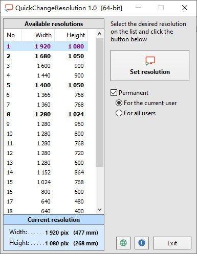 QuickChangeResolution(一键快速切换分辨率)下载