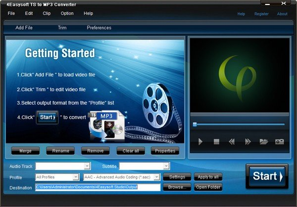 4Easysoft TS to MP3 Converter(TS转MP3音频转换器)下载