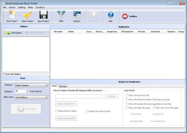 Boxoft Duplicate Music Finder(重复音频文件清理工具)