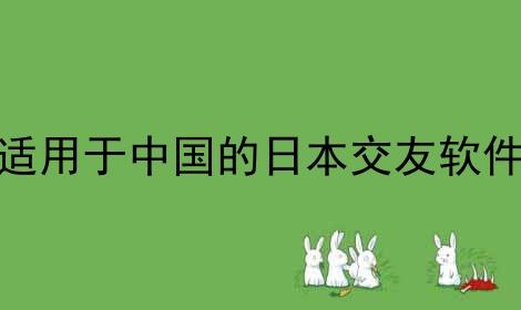 适用于中国的日本交友软件