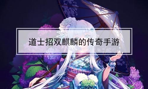 道士招双麒麟的传奇手游软件合辑