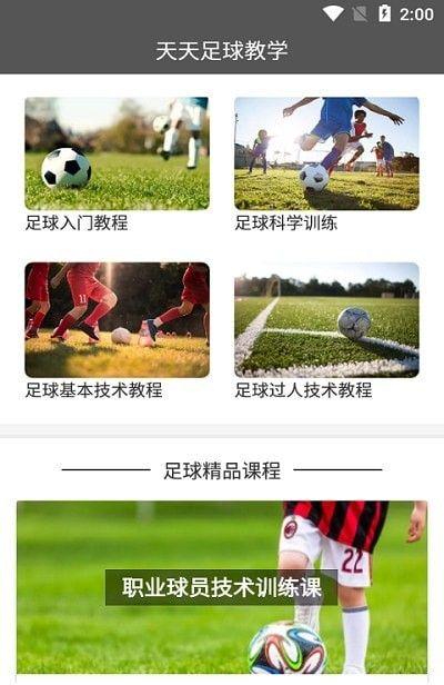 天天足球教学软件截图1