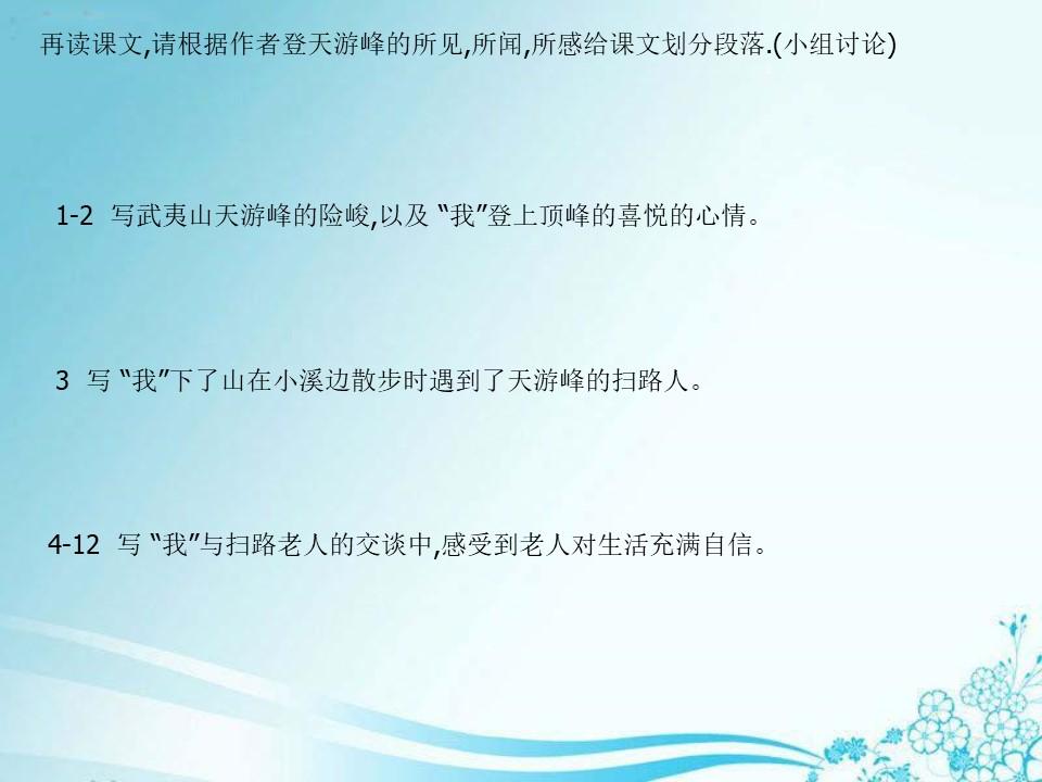 《天游峰的扫路人》PPT课件5下载