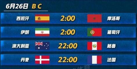 2018年6月26日世界杯是谁vs谁?附北京时间比赛赛程及直播地址