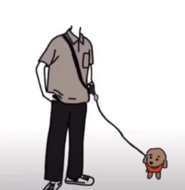 抖音牵狗情侣图片怎么制作  抖音一个人牵狗的素材图片制作方法