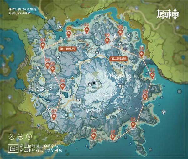 原神龙脊雪山怎么快速挖矿?原神龙脊雪山最佳挖矿路线推荐