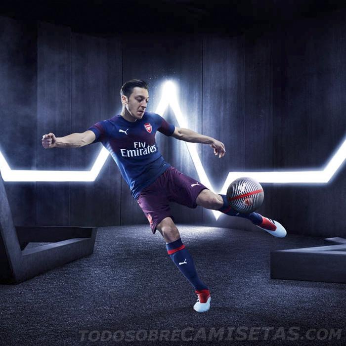 阿森纳新赛季客场球衣发布,超燃!