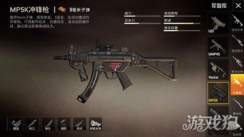和平精英版本新枪MP5K冲锋枪最佳配件推荐