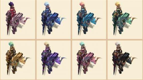 英雄联盟10.25版本女帝系列皮肤建模高清图大全