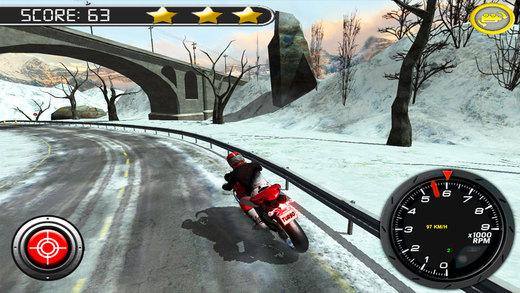 极速摩托冬季高速公路拉力赛软件截图2